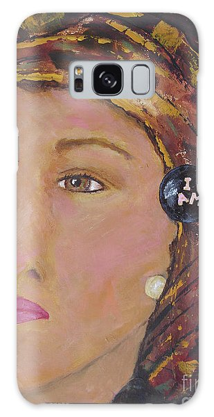 Lady In Head Scarf  Galaxy Case