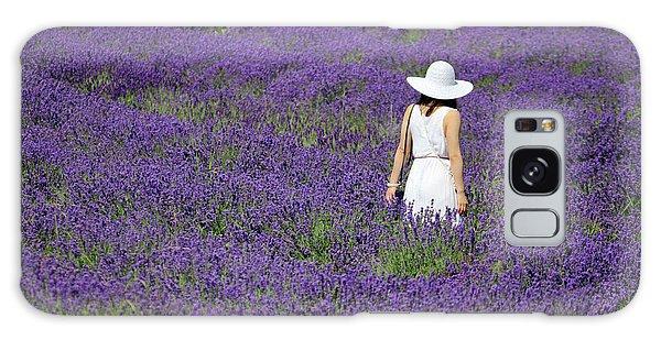 Lady In Lavender Field Galaxy Case
