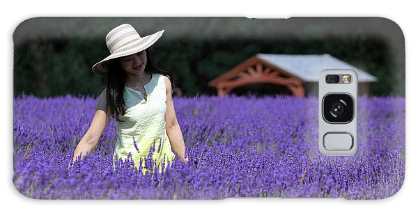 Lady In Lavender Galaxy Case