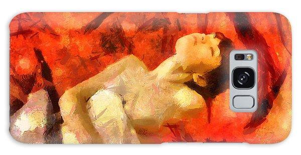 Lady In Red Galaxy Case by Gun Legler