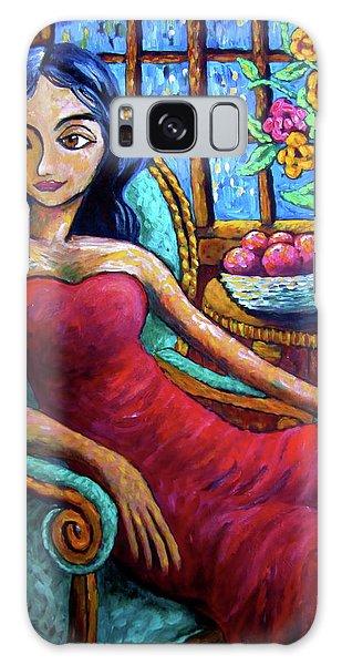 Lady In Red Galaxy Case by Sebastian Pierre