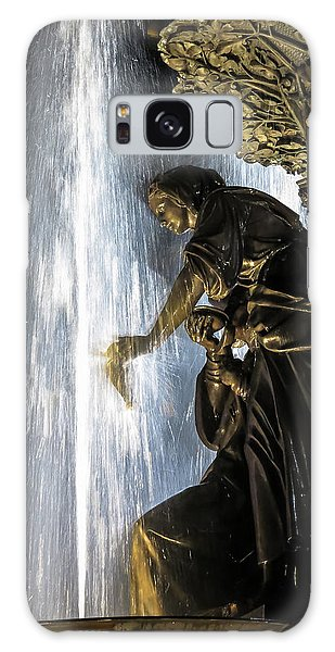 Lady In The Fountain Galaxy Case