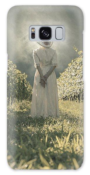 Lady In Vineyard Galaxy Case