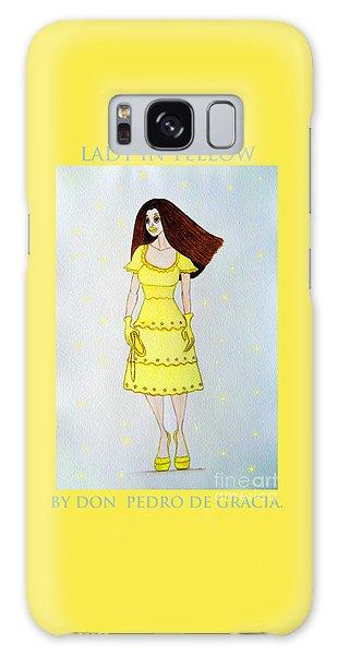 Lady In Yellow Galaxy Case by Don Pedro De Gracia