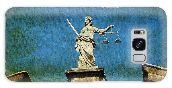 Lady Justice. Streets Of Dublin. Painting Collection Galaxy Case