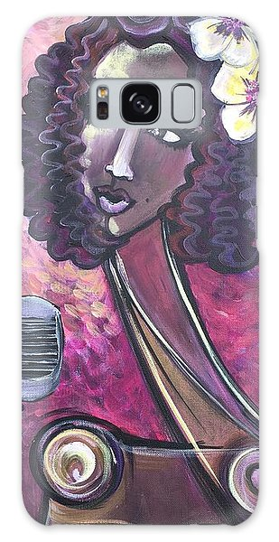 Galaxy Case featuring the painting Lady Lauren Midnight Singer by Laurie Maves ART