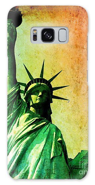Lady Liberty Galaxy Case by Denise Tomasura