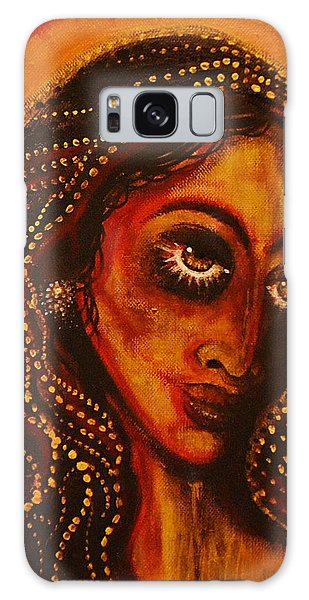 Lady Of Gold Galaxy Case by Sandro Ramani