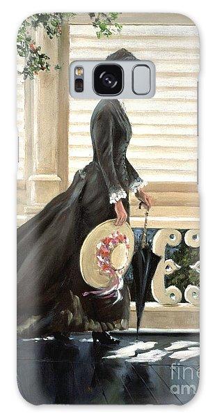 Lady On A Porch Galaxy Case
