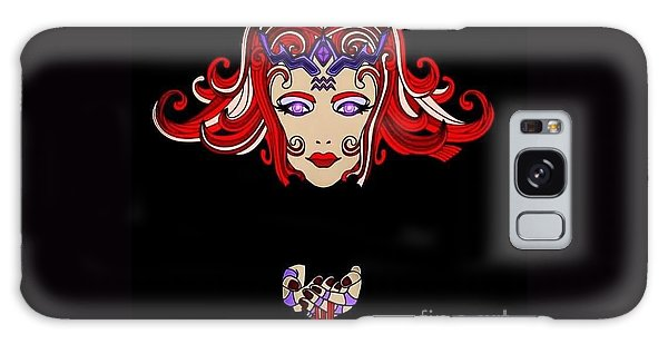 Galaxy Case - Lady Red by Lisa Marie Towne