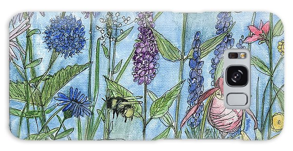 Lady Slipper In My Garden  Galaxy Case by Laurie Rohner
