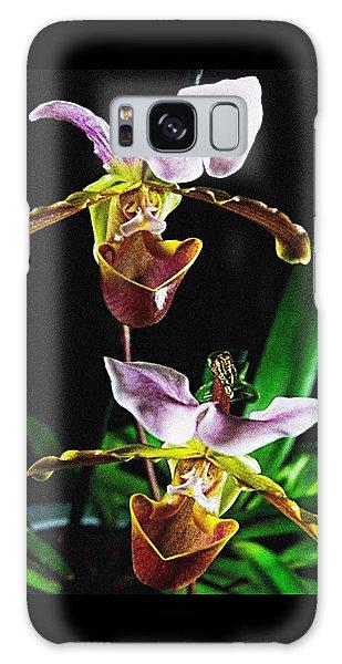 Lady Slipper Orchid Galaxy Case by Elf Evans