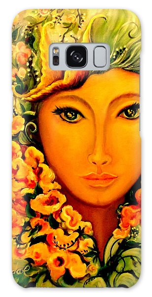 Lady Sring Galaxy Case by Yolanda Rodriguez