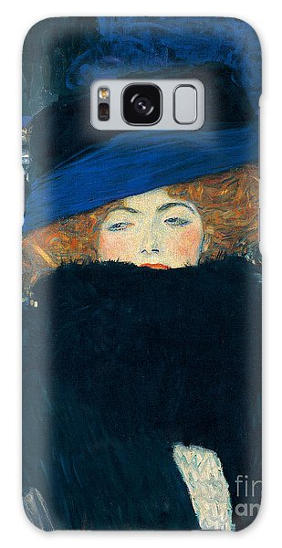 Boa Constrictor Galaxy Case - Lady With A Hat And A Feather Boa by Gustav Klimt