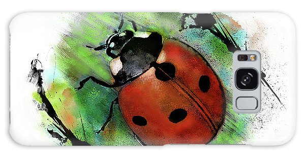 Galaxy Case featuring the drawing Ladybug Drawing by John Dyess