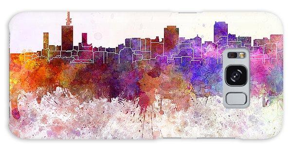 Nigeria Galaxy Case - Lagos Skyline In Watercolor Background by Pablo Romero