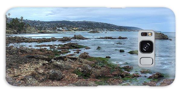 Laguna Beach Shoreline At Low Tide Galaxy Case by Eddie Yerkish