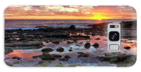 Laguna Beach Tidepools At Sunset Galaxy Case by Eddie Yerkish