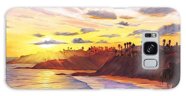 Beach Sunset Galaxy Case - Laguna Village Sunset by Steve Simon
