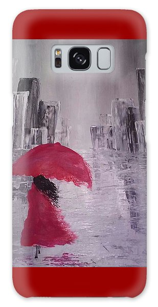Laidy In The City Abstract Art Galaxy Case by Sheila Mcdonald