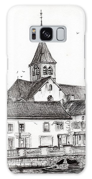 Pen And Ink Drawing Galaxy Case - Laignes France by Vincent Alexander Booth