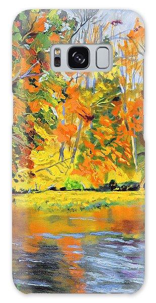 Lake Aerofloat Fall Foliage Galaxy Case