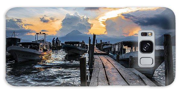 Docked Boats Galaxy Case - Lake Atitlan by Yuri San