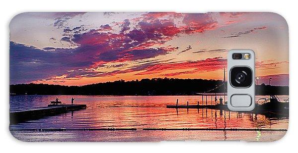Lake Beach Sunset Galaxy Case by Mark Miller