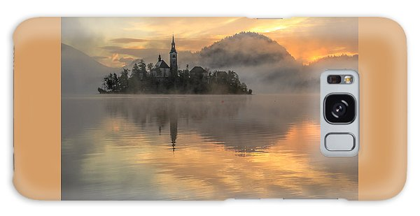 Lake Bled Sunrise Slovenia Galaxy Case