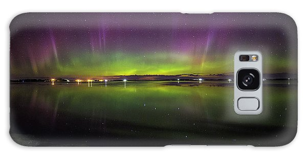 Galaxy Case featuring the photograph Lake Byron Aurora  by Aaron J Groen