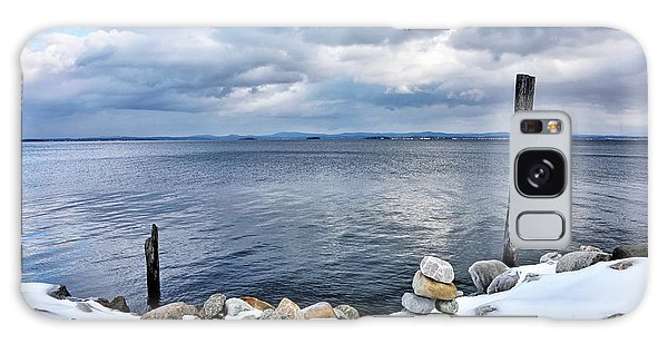 Lake Champlain During Winter Galaxy Case by Brendan Reals