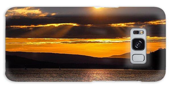 Lake Champlain Sunset Galaxy Case
