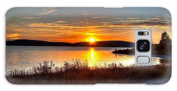 Lake Charlevoix Sunset Galaxy Case