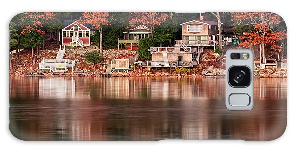 Lake Cottages Reflections Galaxy Case