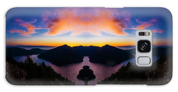 Olympic National Park Galaxy Case - Lake Crescent Reflection by Pelo Blanco Photo