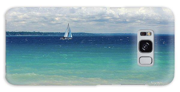 Lake Huron Sailboat Galaxy Case