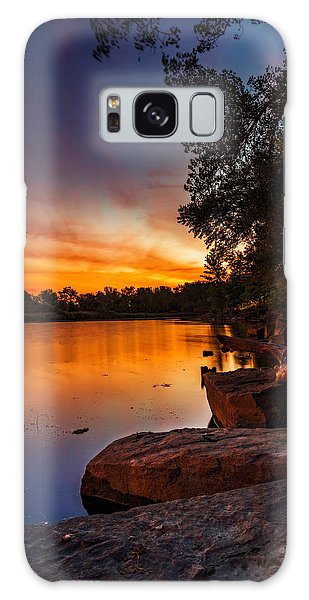 Lake Kirsty Twilight - Vertical Galaxy Case by Chris Bordeleau