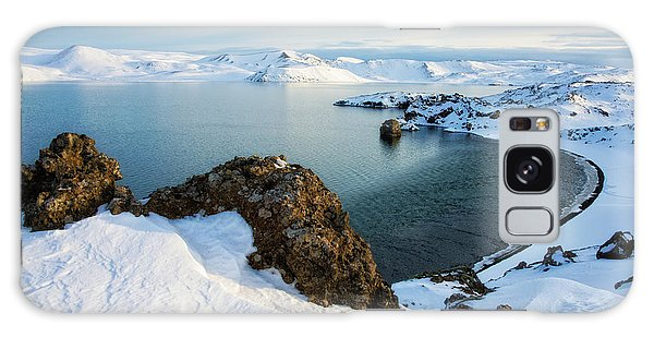 Galaxy Case featuring the photograph Lake Kleifarvatn Iceland In Winter by Matthias Hauser