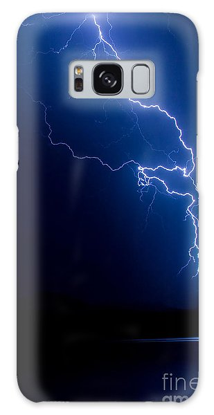 Lake Lightning Strike Galaxy Case