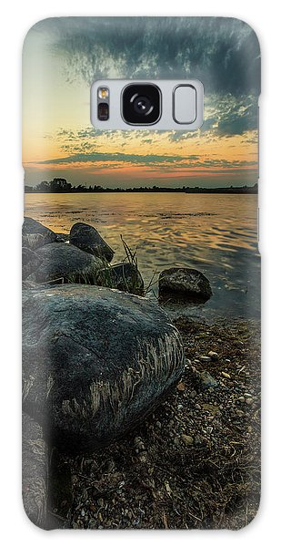 Galaxy Case featuring the photograph Lake Louise Dusk  by Aaron J Groen