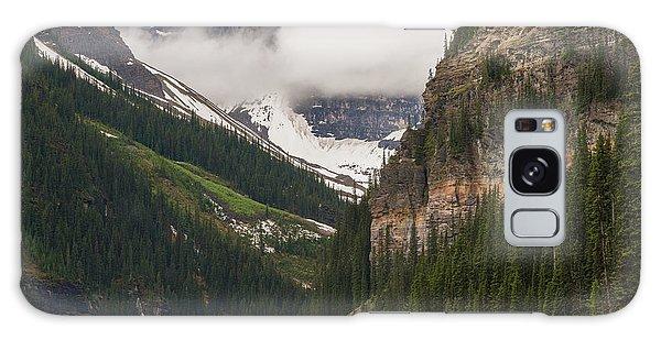 Moraine Lake Galaxy Case - Lake Louise Peaks Above by Mike Reid