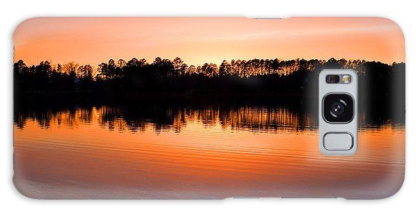 Lake Maumelle Sunset Galaxy Case