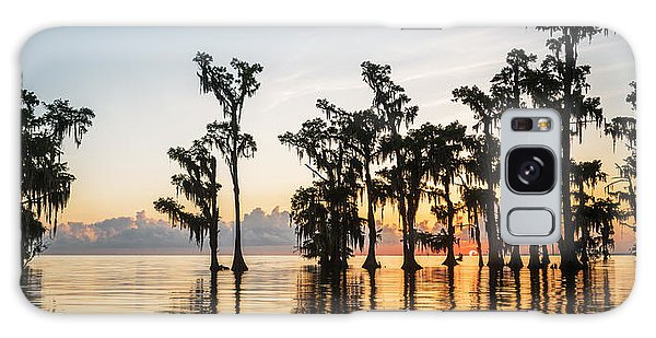Lake Maurepas Sunrise Galaxy Case by Andy Crawford