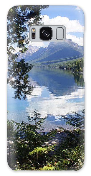 Lake Mcdlonald Through The Trees Glacier National Park Galaxy Case