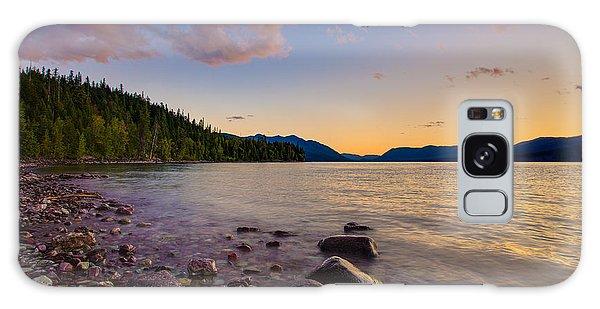 Lake Mcdonald At Sunset Horizontal Galaxy Case