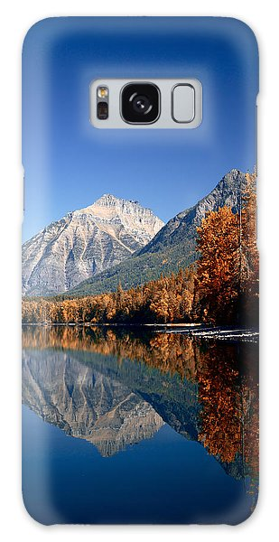 Lake Mcdonald Autumn Galaxy Case by Lawrence Boothby