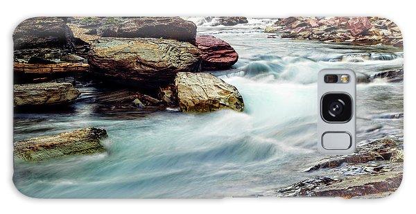 Lake Mcdonald Falls, Glacier National Park, Montana Galaxy Case