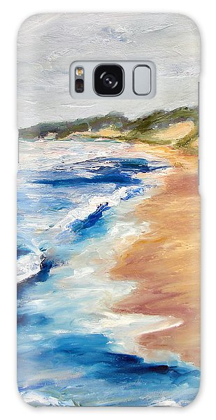 Lake Michigan Beach With Whitecaps Detail Galaxy Case