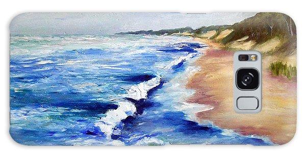 Lake Michigan Beach With Whitecaps Galaxy Case