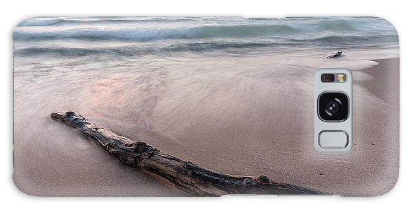 Galaxy Case featuring the photograph Lake Michigan Driftwood by Adam Romanowicz